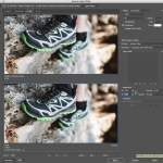 Photoshop export for web settings view in 2up.